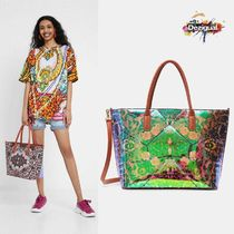 Desigual Casual Style A4 2WAY Elegant Style Totes