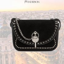 J W ANDERSON Casual Style Leather Crossbody Logo Shoulder Bags