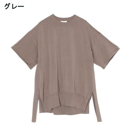Crew Neck Casual Style Plain Cotton Short Sleeves