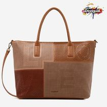 Desigual Casual Style 2WAY Office Style Elegant Style Totes