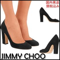 Jimmy Choo Round Toe Suede Plain Leather Party Style Office Style