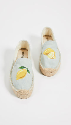 Tropical Patterns Casual Style Street Style Flats