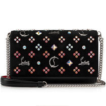 Christian Louboutin Paloma Suede Studded 2WAY Chain Crossbody Shoulder Bags