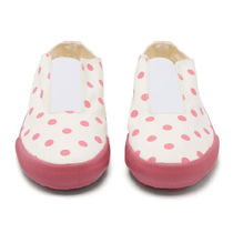 COMME des GARCONS Dots Round Toe Rubber Sole Casual Style Low-Top Sneakers