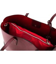 CAMELIA ROMA Bag in Bag A4 Plain Leather Office Style Logo Totes