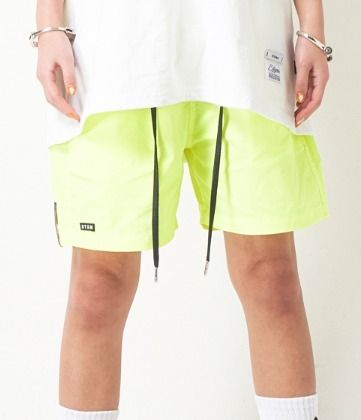 Unisex Nylon Plain Neon Color Shorts