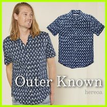 Outer known Dots Unisex Cotton Short Sleeves Surf Style Shirts