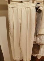 BRUNELLO CUCINELLI Casual Style Linen Plain Long Office Style Short Length