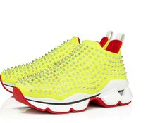 Christian Louboutin Spike Sock Studded Low-Top Sneakers