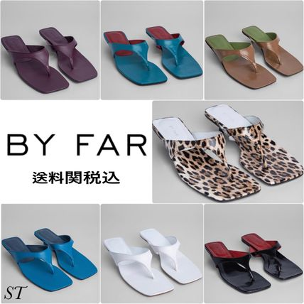 Leopard Patterns Square Toe Casual Style Street Style Plain