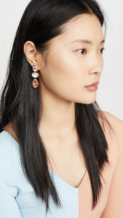 Casual Style Party Style With Jewels Elegant Style Earrings