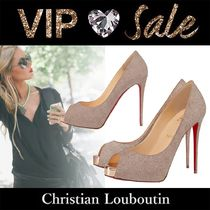 Christian Louboutin Casual Style Plain Pin Heels Handmade Party Style