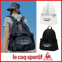 le coq sportif Casual Style Street Style Logo Backpacks