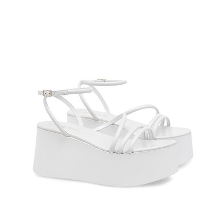 Gianvito Rossi Platform & Wedge Platform Casual Style Plain Leather Strap Sandals 2