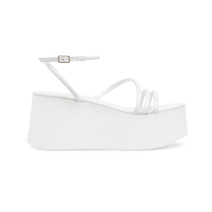 Gianvito Rossi Platform & Wedge Platform Casual Style Plain Leather Strap Sandals 3