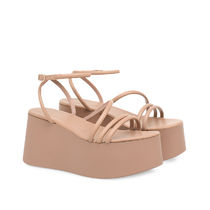 Gianvito Rossi Platform & Wedge Platform Casual Style Plain Leather Strap Sandals 6