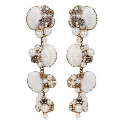Blended Fabrics Party Style Elegant Style Earrings