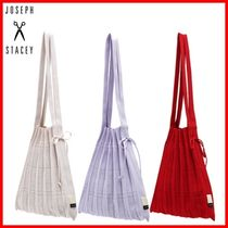 JOSEPH&STACEY Casual Style Elegant Style Logo Icy Color Totes
