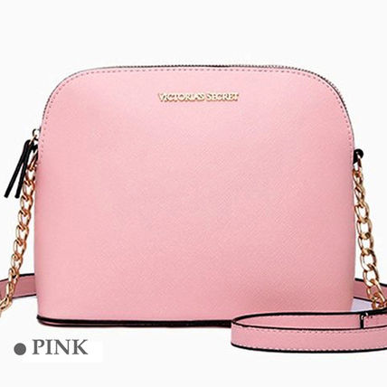 Casual Style Logo Shoulder Bags