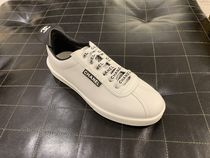 CHANEL ICON Unisex Blended Fabrics Plain Leather Logo Sneakers