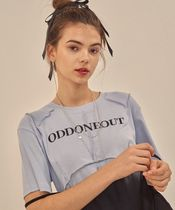 ODD ONE OUT Crew Neck Street Style Plain Cotton Short Sleeves Logo