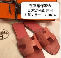 HERMES Oran Leather Metallic Sandals