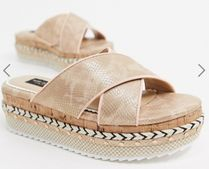 River Island Platform Casual Style Street Style Plain Office Style