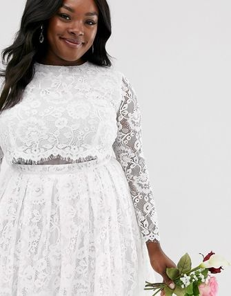 ASOS Long Lace Bridal Wedding Dresses