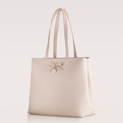 【BS883601S20】SHOPPING BAG WITH FRONT BOW - ESTELLE