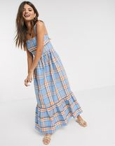 YAS Other Plaid Patterns Maxi Medium Party Style Elegant Style