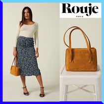Rouje Casual Style Plain Leather Party Style Elegant Style Bridal