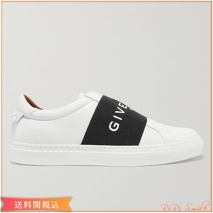 Plain Leather Logo Low-Top Sneakers