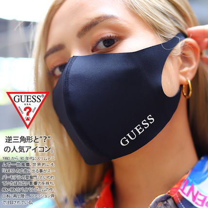 Guess Unisex Street Style Logo Asymmetry Accessories