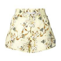 Off-White Printed Pants Short Flower Patterns Casual Style