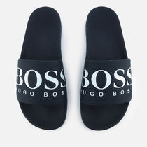 Hugo Boss Plain Shower Shoes Logo Shower Sandals