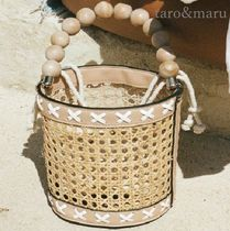 SABO SKIRT Bag in Bag Straw Bags