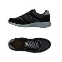 AVIREX Suede Plain Leather Logo Sneakers