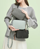 hoze Plain Leather Crossbody Shoulder Bags