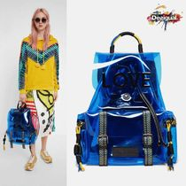 Desigual Casual Style 2WAY Crystal Clear Bags Logo Backpacks