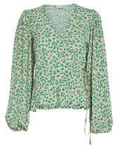 Ganni Flower Patterns Casual Style Street Style Long Sleeves