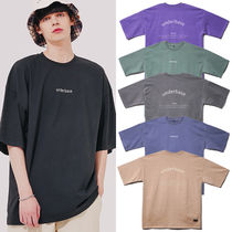Crew Neck Pullovers Unisex Street Style Plain Cotton