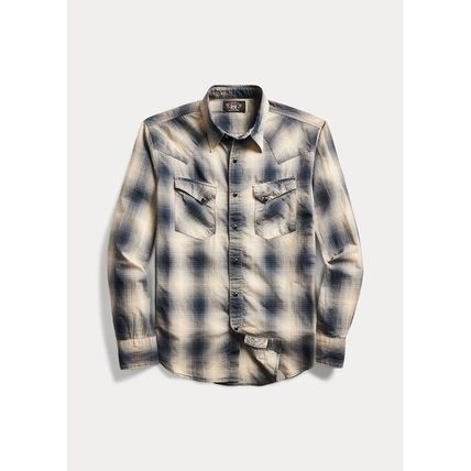 Other Plaid Patterns Street Style Long Sleeves Cotton
