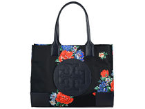 Tory Burch ELLA TOTE Flower Patterns Casual Style Nylon Party Style Office Style