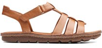 Clarks Open Toe Casual Style Leather Sport Sandals Flat Sandals