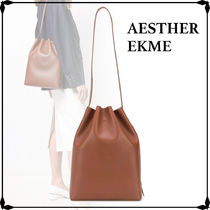AESTHER EKME Casual Style Street Style Plain Leather Purses Office Style