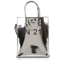 N21 numero ventuno 2WAY Plain Leather Logo Totes