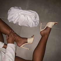 SIMMI Plain Pin Heels Party Style Elegant Style Mules