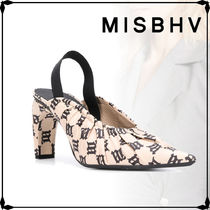 MISBHV Casual Style Street Style Leather Party Style Elegant Style