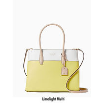 kate spade new york Flower Patterns Casual Style 2WAY Bi-color Plain Leather