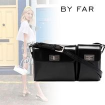 by FAR Casual Style Blended Fabrics Street Style Plain Leather
